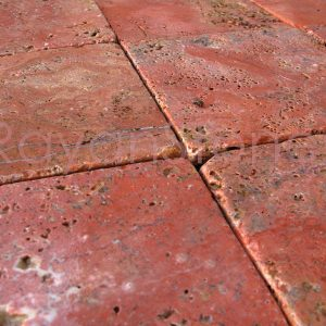 red travertine tumbled