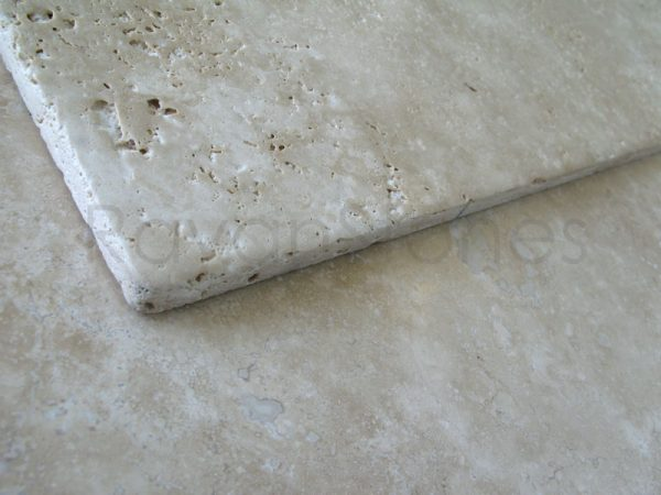 cream travertine tumbled