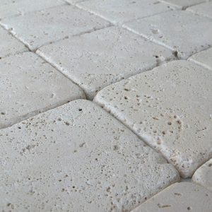 ivory light travertine tumbled