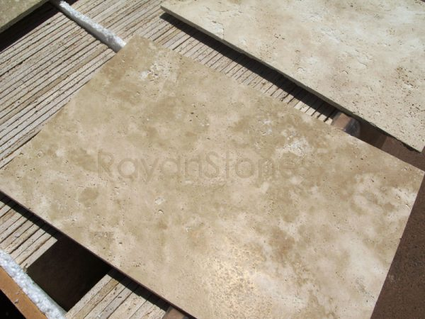 light beige travertine honed & Filled tiles
