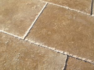 noce travertine brushed chiseled