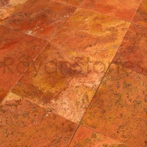 red-travertine-brushed-tiles
