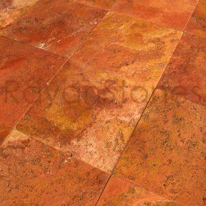 red-travertine-brushed-tiles