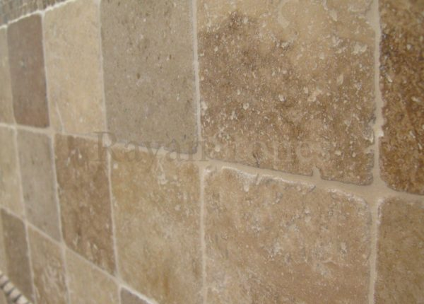 kale blend travertine tumbled 20x20x1